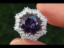 GIA Certified 7.05 ct UNHEATED Natural VVS Color Change Sapphire Diamond 18k Gold Ring GEM - A131547