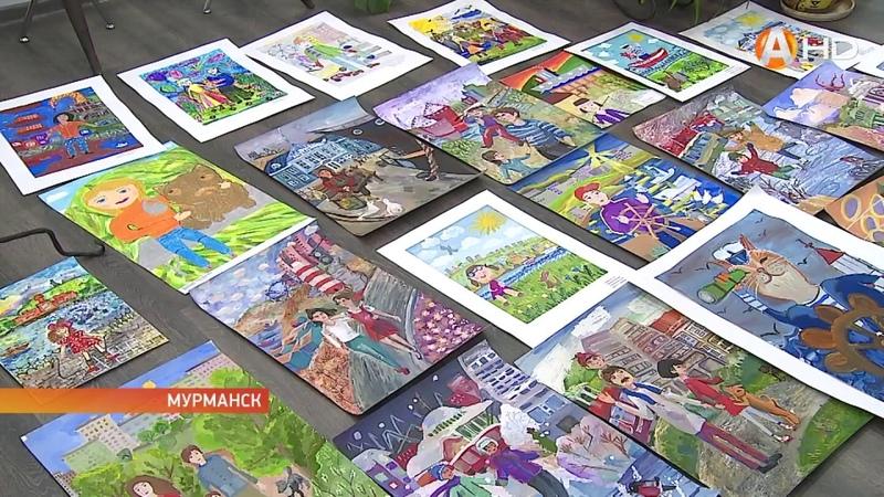 В столице Заполярья выбрали лучшие работы конкурса детского рисунка «Я люблю мой город»