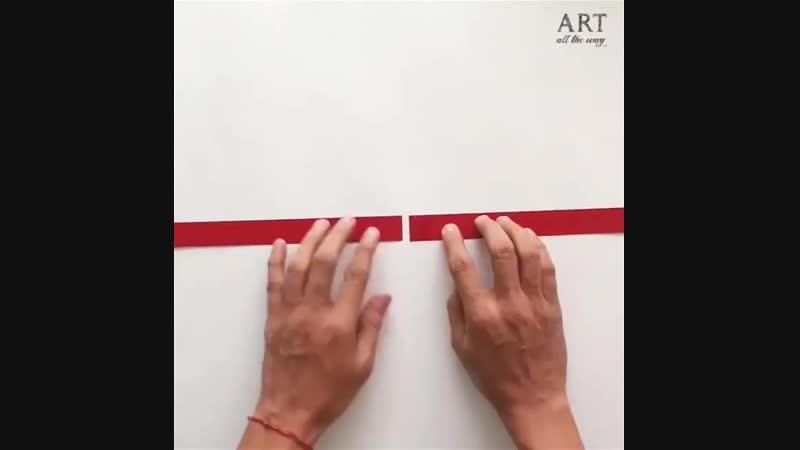 Два простых приема для поделок из бумаги