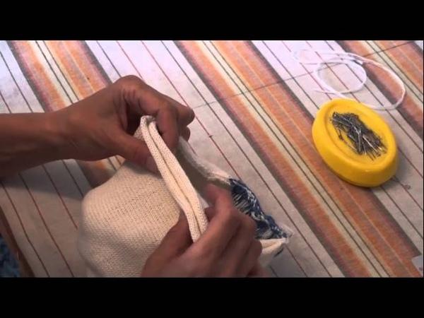 Как сшить и отпарить ВТО двойную спортивную шапку Петушок Уроки и секреты машинного вязания