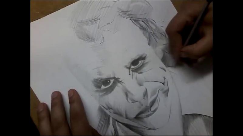 Рисунок карандашом Джокер