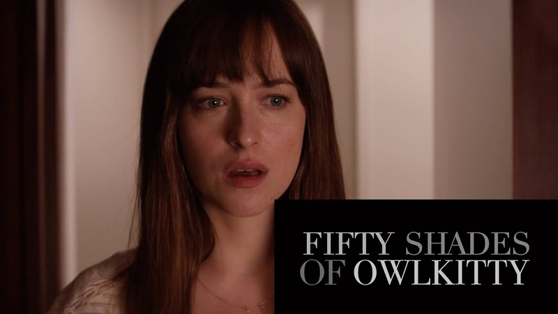 Fifty Shades of Grey - starring my cat OwlKitty