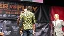 Deontay Wilder Bump heads push Fury Scuffle Break Out