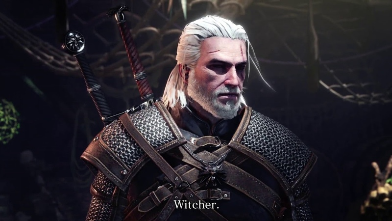 Monster Hunter World The Witcher 3 Gameplay - Collaboration Coming to PS4, Xbox One, and PC