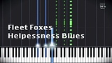 Fleet Foxes -- Helplessness blues (piano cover) with MIDI