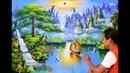 Bài hướng dẫn tóm tắt .(trong khóa học vẽ online). Vẽ tranh phong cảnh sơn thủy thuận buồm xuôi gió