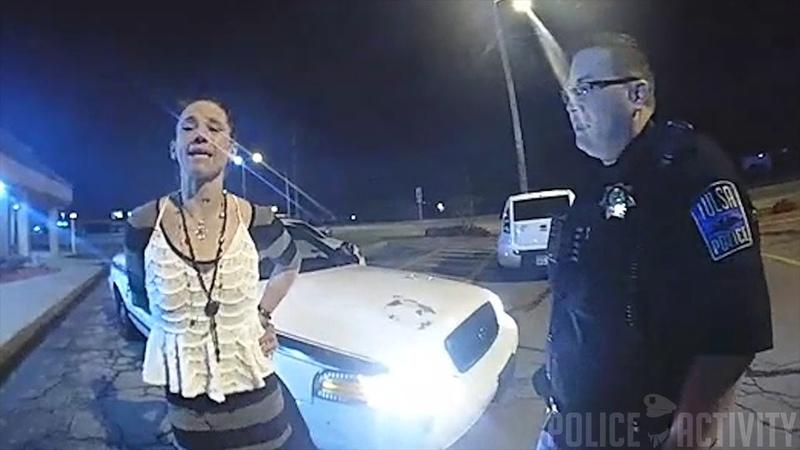 Bodycam Shows Handcuffed Woman Stealing Tulsa Police Car