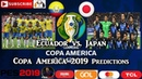 Ecuador vs Japan Copa America Brasil 2019 Group C Predictions PES 2019
