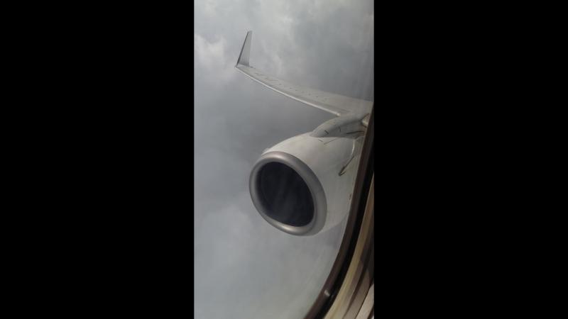 Landing at Delhi while rain shower, 14.08.18 Jet Airways