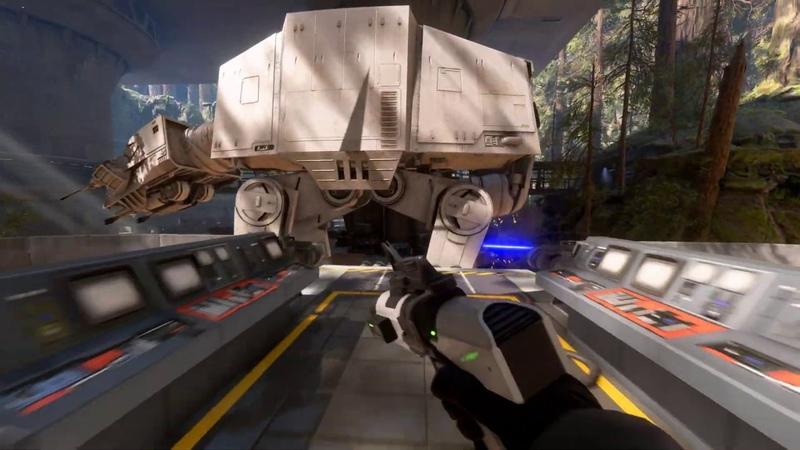 Defending The Imperial Walker 1st Person NO HUD Gameplay Star Wars Battlefront 2