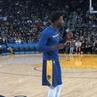 "Golden State Warriors on Instagram @1jordanbell singing some Chris Breezy 🎶 🎤"""