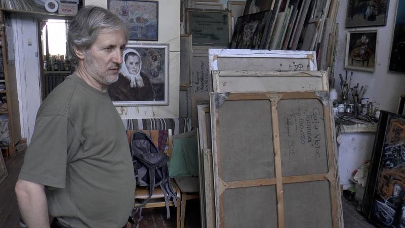В мастерской художника Виктора Гуцу Молдавия