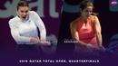 Simona Halep vs. Julia Goerges   2019 Qatar Total Open Quarterfinals   WTA Highlights