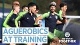 AGUERO AEROBICS Post Carabao Cup Final Training