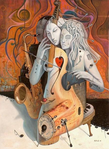 Алхимия чувств в провокационном сюрреализме от Адриана Борда (Adrian Borda) «Влюбленные артисты»