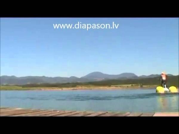 Pedal boat, waterbike, водный велосипед, катамаран