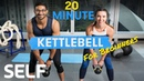 20 Minute Kettlebell Workout for Beginners - With Warm-Up and Cool-Down | Sweat With SELF