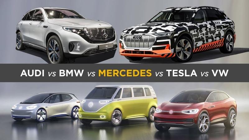So wollen deutsche Autohersteller Tesla trotzen: Audi, BMW, Daimler VW´s E-Auto Offensive