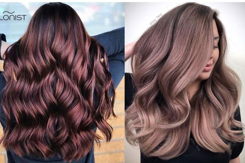 Коричнево-розовые волосы: фото | Модный коричнево розовый цвет волос