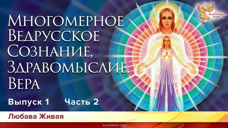 Многомерное Ведрусское Сознание, Здравомыслие и Вера. Любава Живая. Выпуск 1. Часть 2