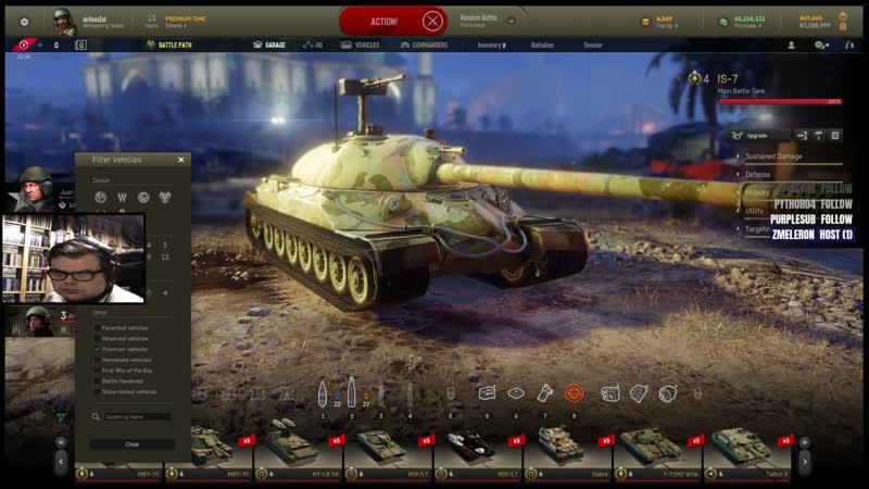 Armored Warfare | Ramdom PVP Action Live !!