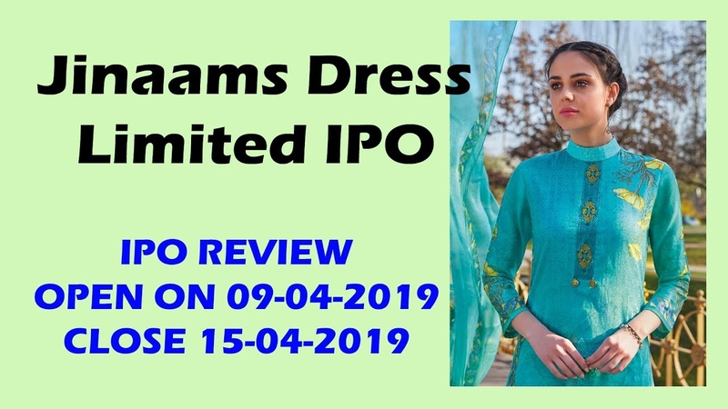 Jinaam's Dress Limited IPO Date Prospectus Allotment Listing Reviews Status