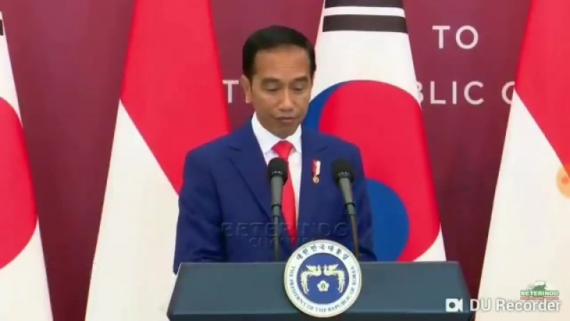 President of Republic Indonesia Mr Joko Widodo mentioned iKON and SJ during his speech a