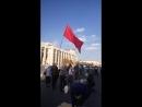 Последним митинг против уничтожения пенсий и едроссовской фашизации России покидает Знамя СССР