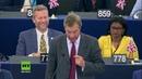 EU Parlament Gott sei Dank verlassen wir diese Union Farage zu von der Leyens EU Plänen