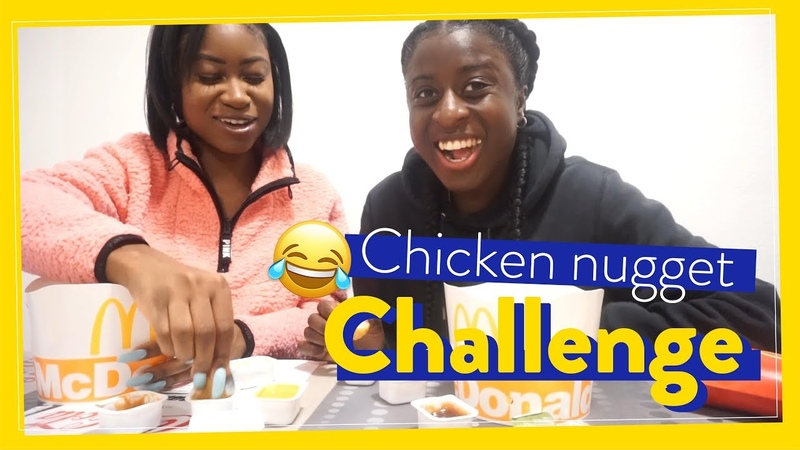 Cheat day Chicken Nugget Challenge with Eunice Beckmann! WhySoSerious