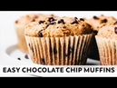 Easy Chocolate Chip Muffins vegan grain free healthy