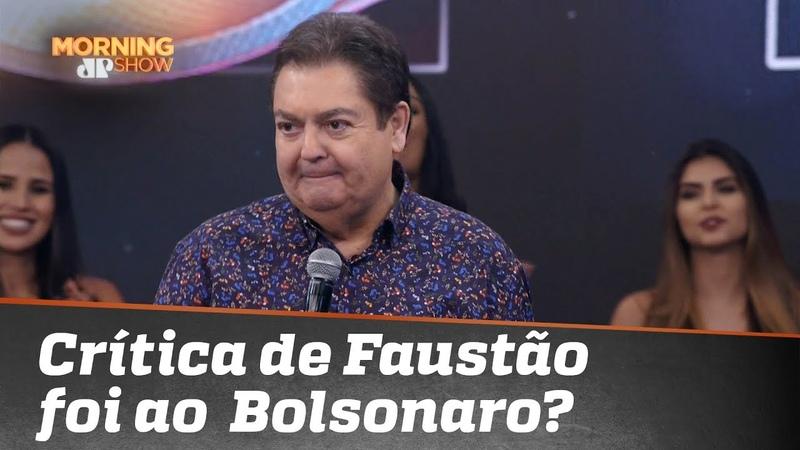 """""""Imbecil que não deveria estar lá"""": a crítica de Faustão foi para o Bolsonaro?"""