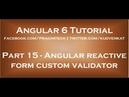 Angular reactive form custom validator