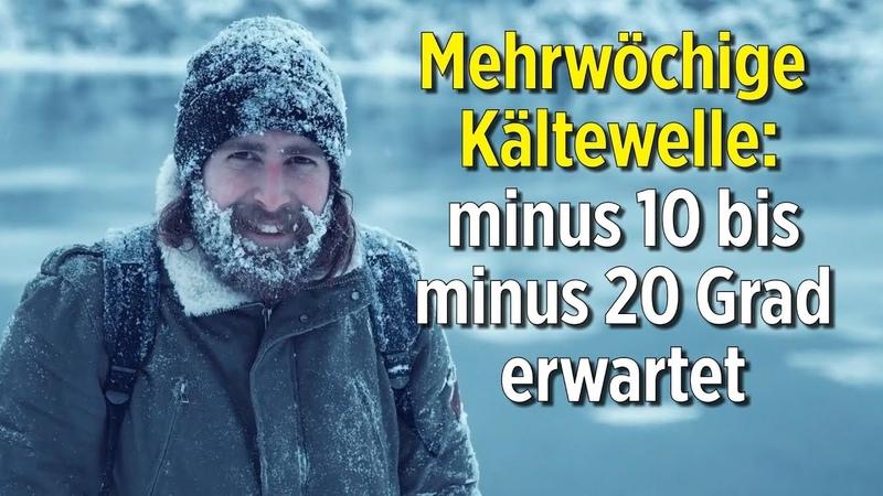 Minus 10 bis minus 20 Grad: Meteorologen erwarten mehrwöchige Kältewelle