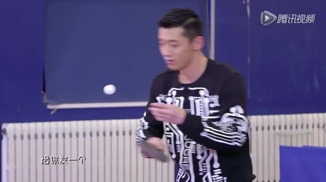 Zhang Jike vs kid
