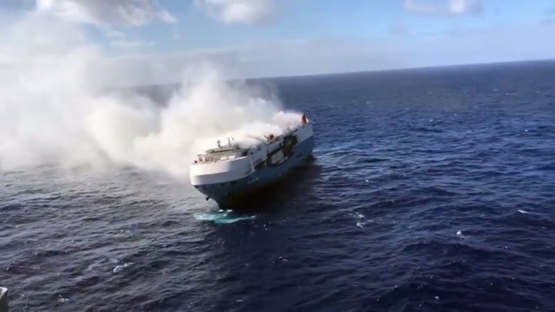 Coast Guard AMVER vessels respond to Sincerity Ace fire