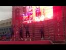 «Магис Спорт» Плаза. Тренеры проводят зумбу на массовой тренировке в Парке Спорта