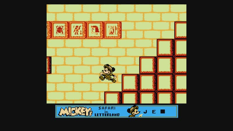 [MICKEYS SAFARI IN LETTERLAND][NORMAL][NES][1993]