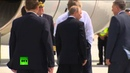 RAW Putin shakes hands with Aussie motorcycle cops before boarding for G20 exit