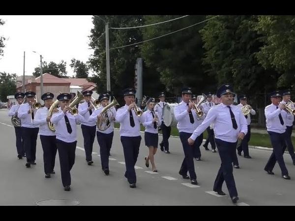 День города в Лебедяни. Парад духовых оркестров