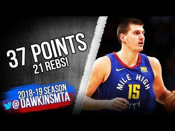 Nikola Jokic Full Highlights 2018.11.09 Nuggets vs Nets - 37 Pts, 21 Rebs!   FreeDawkins