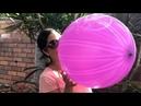 Superman Logo Balloon 🎈 Blowing a Purple Punch Balloon!!