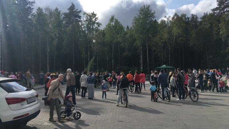 Открытие вело пешеходной дорожки на Древлянке 8