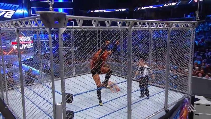 FULL MATCH - Lynch vs. Bliss - Steel Cage Match- SmackDown LIVE, Jan. 17, 2017 (WWE Network)