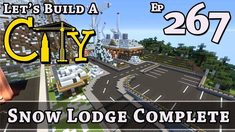 How To Build A City Minecraft Snow Lodge Complete E267