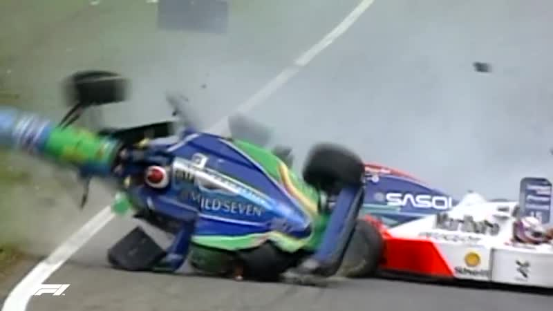 Martin Brundle Escapes Four Car Pile-up _ 1994 Brazilian Grand Prix