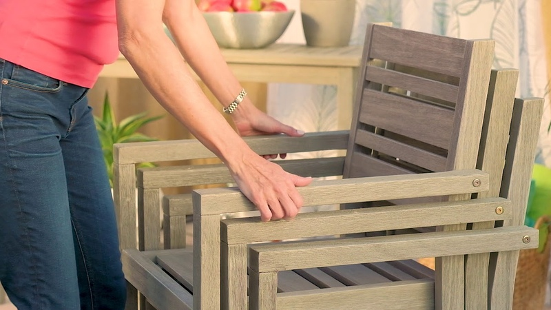 Stacking Wood Arm Chair