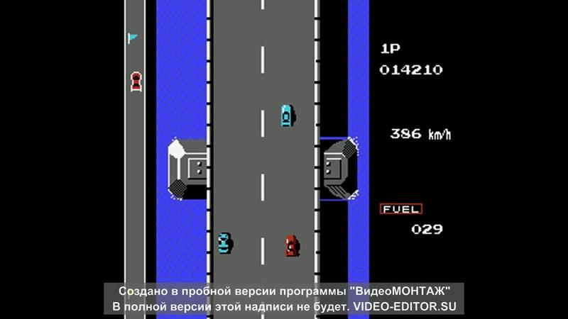 прохожу игру Road Fighter на NES