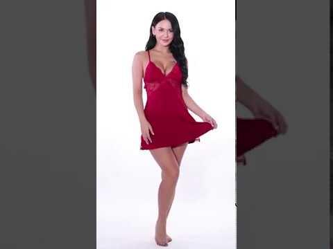 ADOME Women Chemise Lingerie Sexy Nightie Full Slips Lace Babydoll Sleepwear Dress
