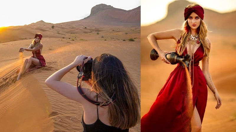 Natural Light Photoshoot in Dubai Desert, Behind The Scenes